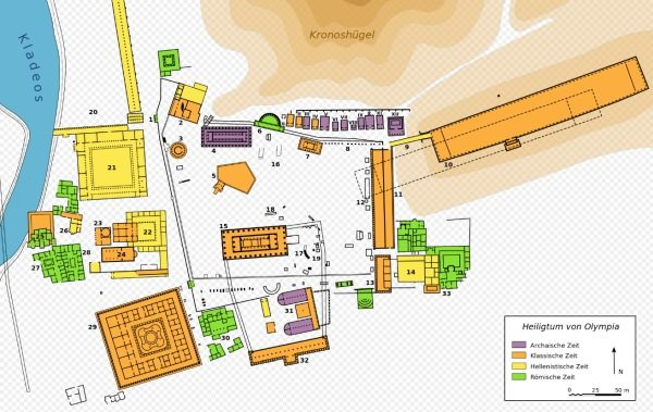 Karte von Olympia