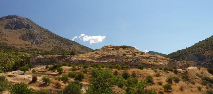 Panorama vom Hügel von Mykene