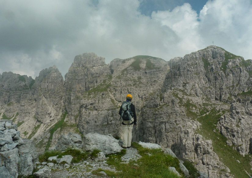 Klettersteig Italien : Via ferrata pesciola am lago di como in italien