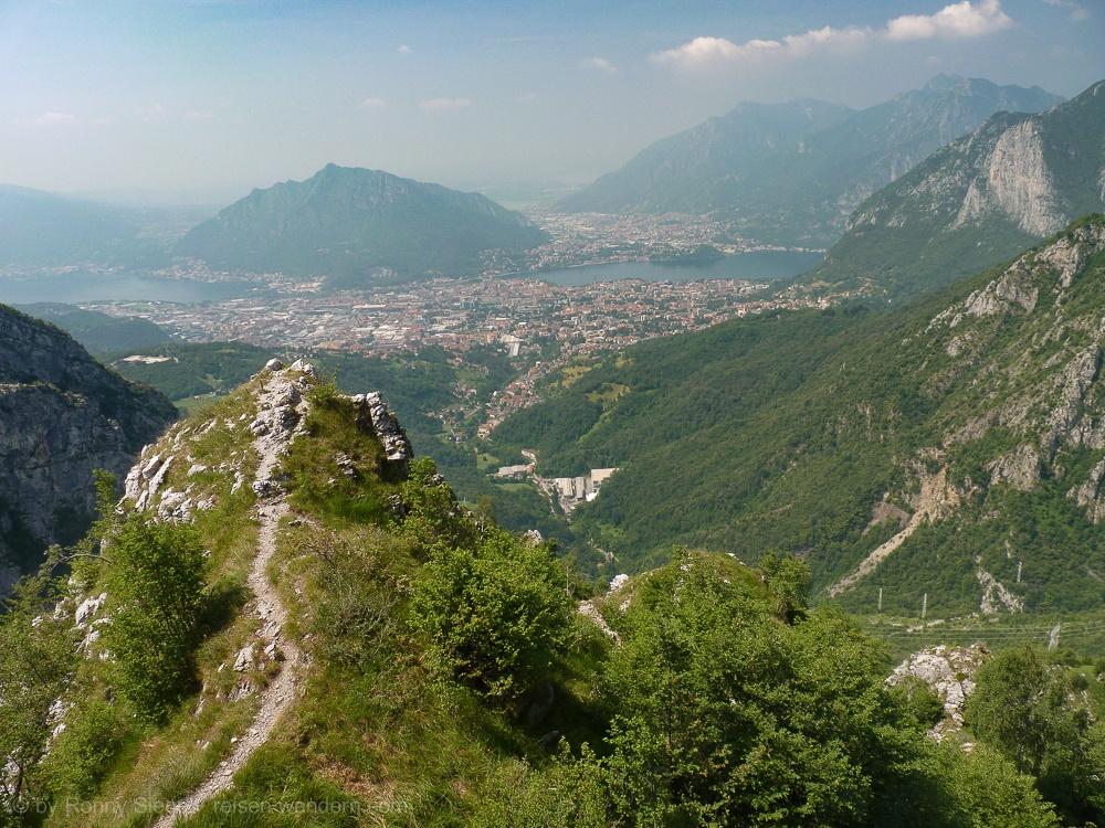 Klettersteig Comer See : Klettersteige monte due mani ferrata simone contessi torrione