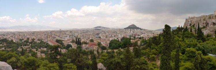 Blick auf Athen von der Akropolis