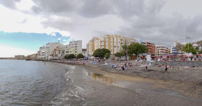 Strand am Zentrum von El Medano