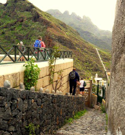 Einstieg Barranco del Infierno durch Loch im Zaun