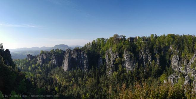 Foto: Panorama der Bastei Rückseite