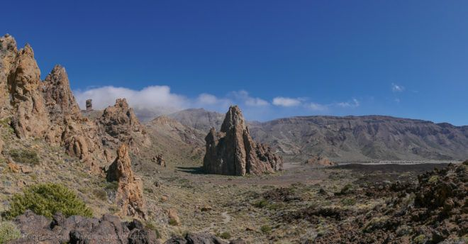 Felsmassiv La Catedral in der Caldera des Teide