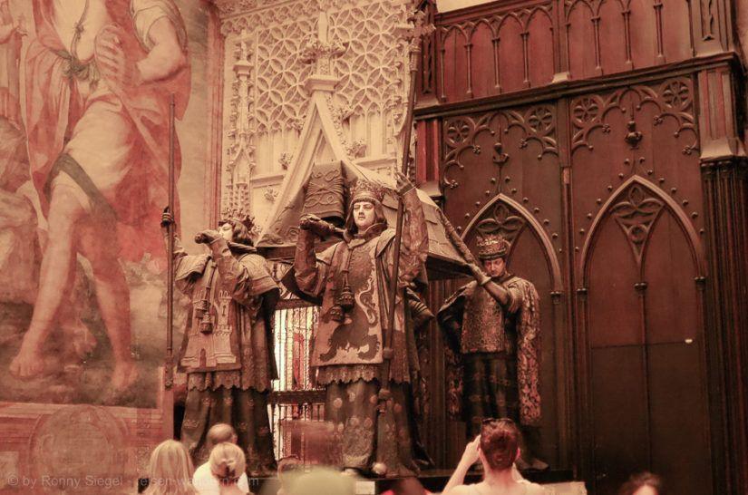 Sarkophag des Christoph Kolumbus in der Kathedrale von Sevilla