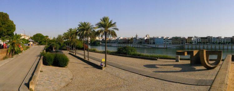 Uferpromenade Paseo Alcalde Marques del Contadero in Sevilla