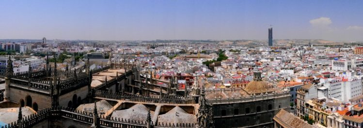 Panorama von Sevilla von der Kathedrale von Sevilla