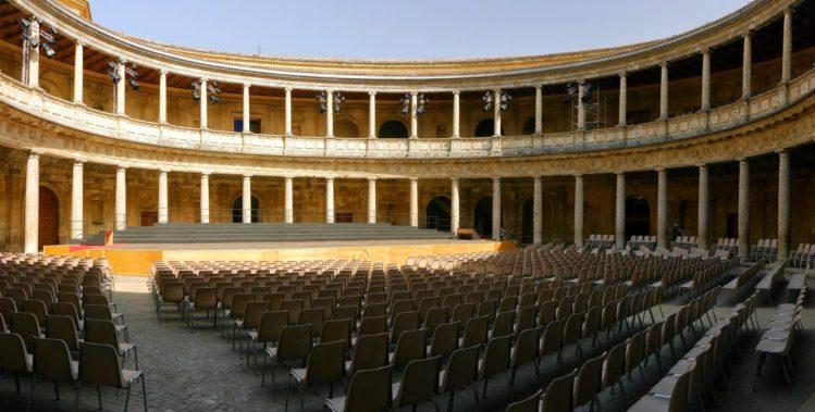 Innenhof des Palast Karls V in der Alhambra