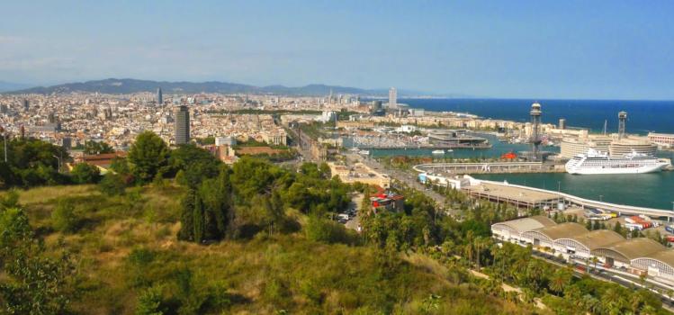 Blick auf Barcelona vom Montujic Castle