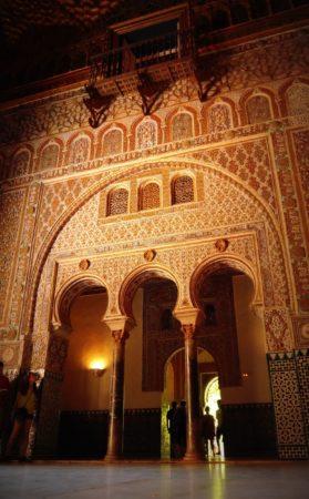 Empfangsraum mit Balkon im Alcazar von Sevilla