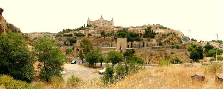 Panorama von Toledo mit Blick auf den Alcazar