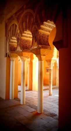 Bögen im Alcazaba von Malaga
