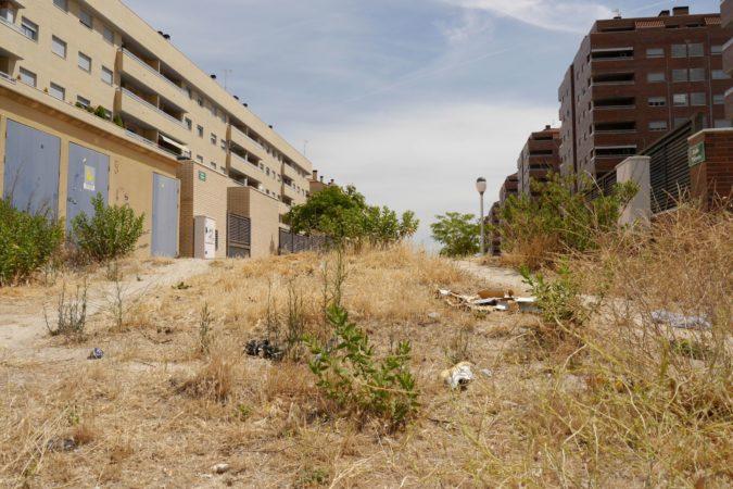 Ende eines Fußweges in Residencial Francisco Hernando