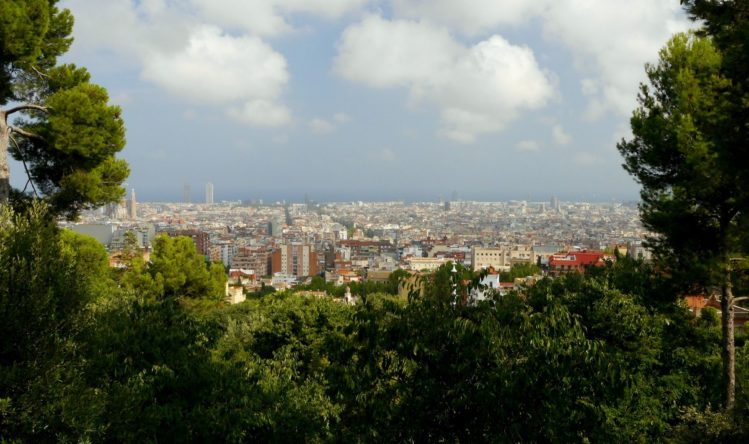 Blick auf Barcelona vom Park Güell
