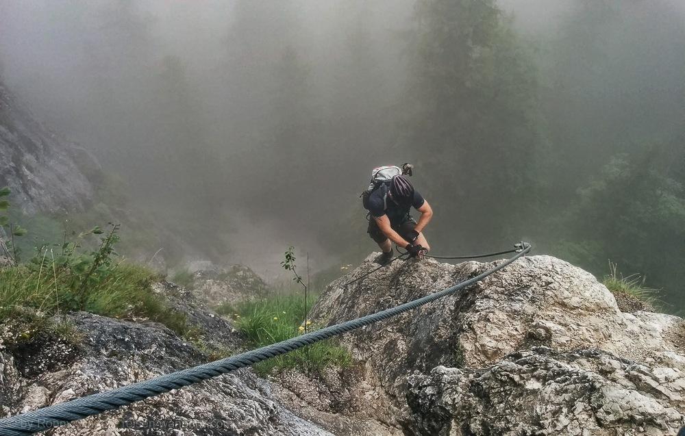 Klettersteigset Verleih Berchtesgaden : Isidor klettersteig auf den grünstein in berchtesgaden