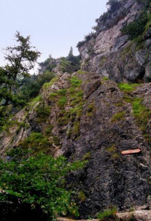 Einstieg des Klettersteig auf den Grünstein in Berchtesgaden - Variante Isidorsteig