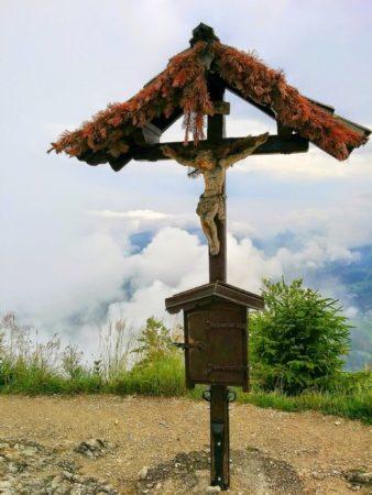 Gipfelkreuz des Klettersteig auf den Grünstein in Berchtesgaden