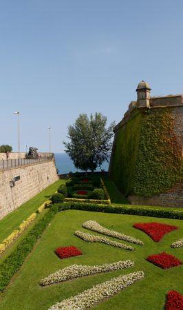 Burggraben des Montjuïc Castle