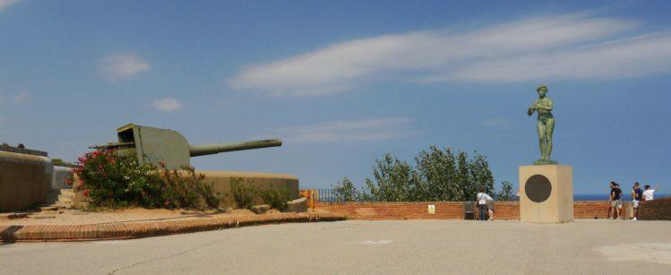 Kanone auf dem Montjuïc Castle