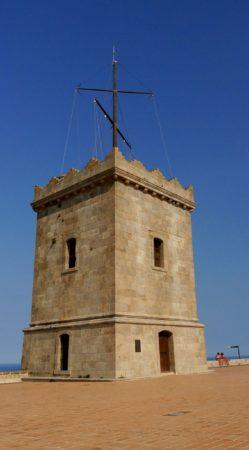 Wachturm auf dem Montjuïc Castle