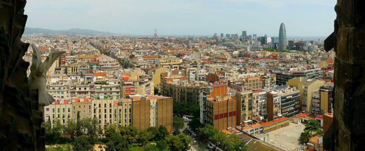 Blick auf Barcelona von der Sagrada Familia