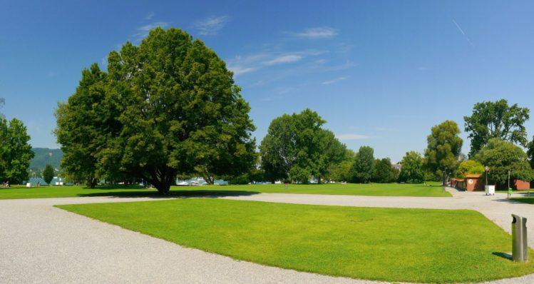 Parkanlage Blatterwiese am Zürichesee in Zürich