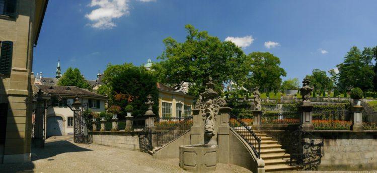 Parkanlage Rechberg an der Künstlergasse in Zürich