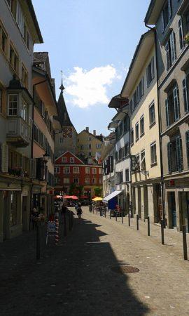 Straße Neumarkt in der Altstadt in Zürich