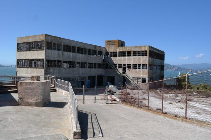 Industriegebäude auf Alcatraz