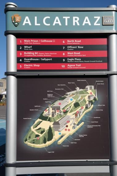 Übersichtsplan von Alcatraz