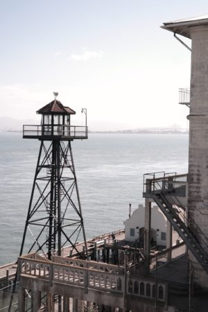 Der Guard Tower auf Alcatraz