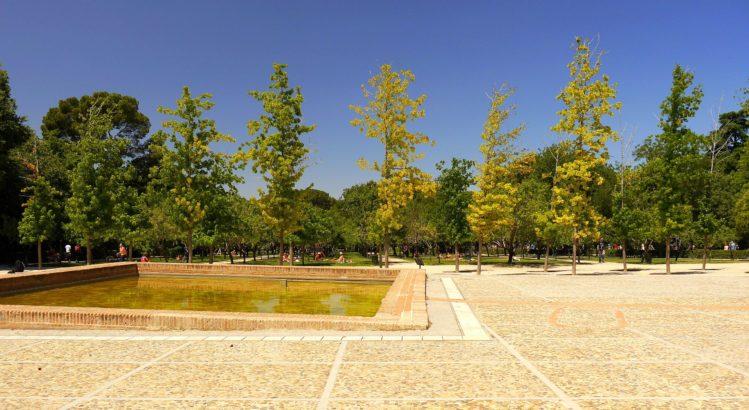Panorama im Süden des Retiro Park in Madrid
