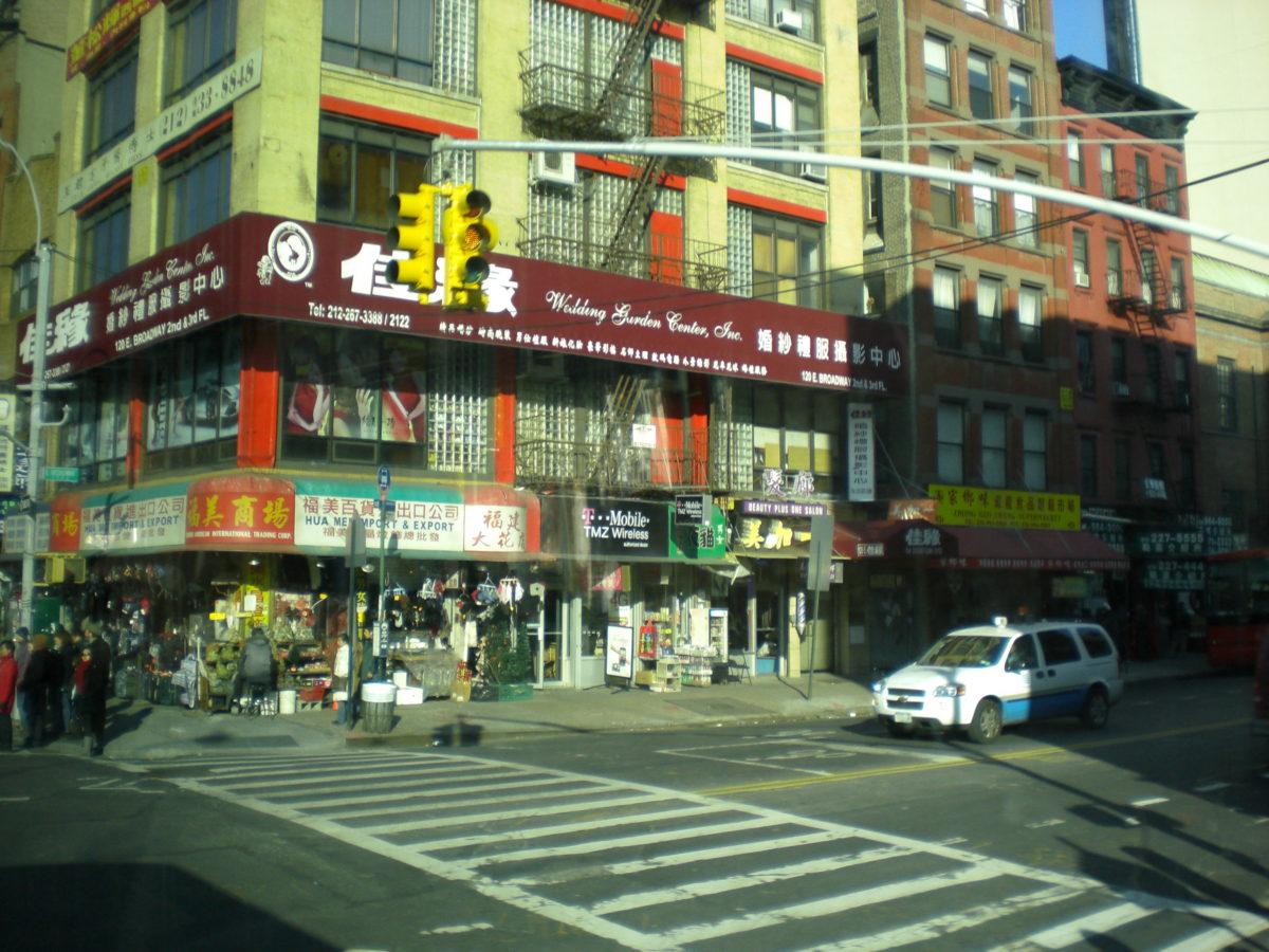 Eine Straßenecke in Chinatown.