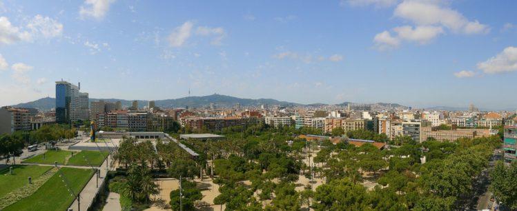 Blick auf Barcelona von der Arenas de Barcelona