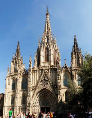 Kathedrale von Barcelona von außen