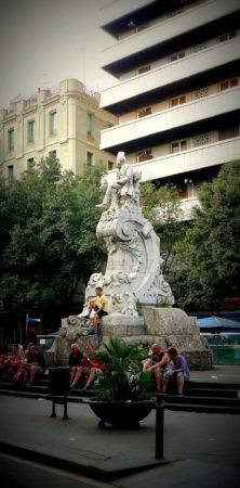 Barcelona - La Rambla - Placa del Teatre