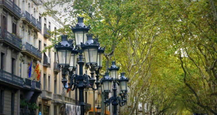 Barcelona - La Rambla - Strassenlaternen