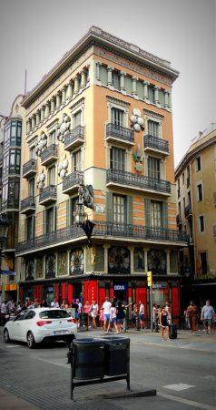 Barcelona - La Rambla - Ecke Carrer del Cardenal Casanas