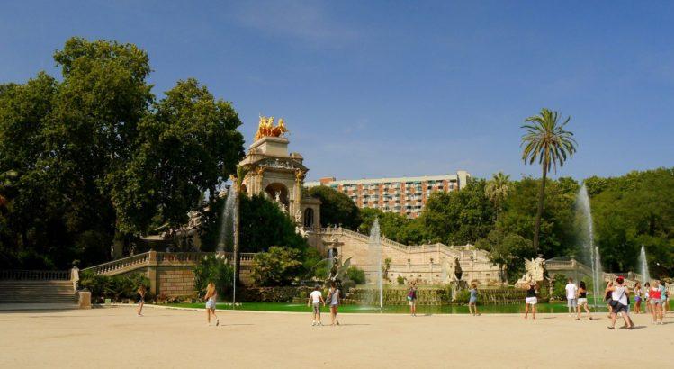 Der Brunnen Font de la Cascada im Parc de la Ciutadella