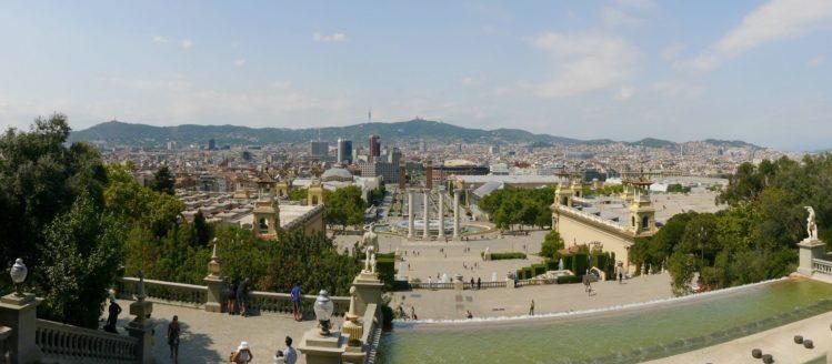 Panorama Font Magica de Montjuic und Barcelona