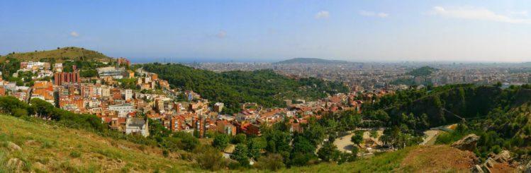 Blick auf Barcelona und den Park El Coll