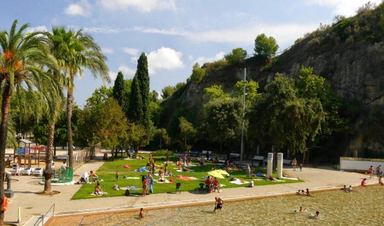 Die Badeanlage für Kinder im Park El Coll