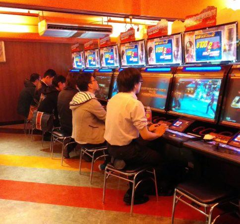 Kampfsport Spielautomat in Tokio