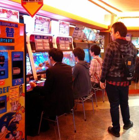 Kampfspiele Automaten in Tokio