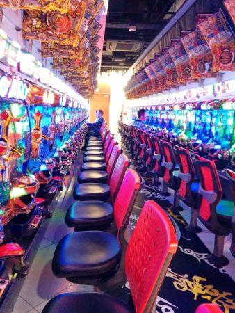 Geldspielhalle in Tokio