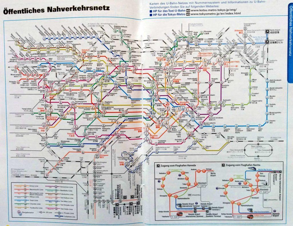 Metronetz von Tokio
