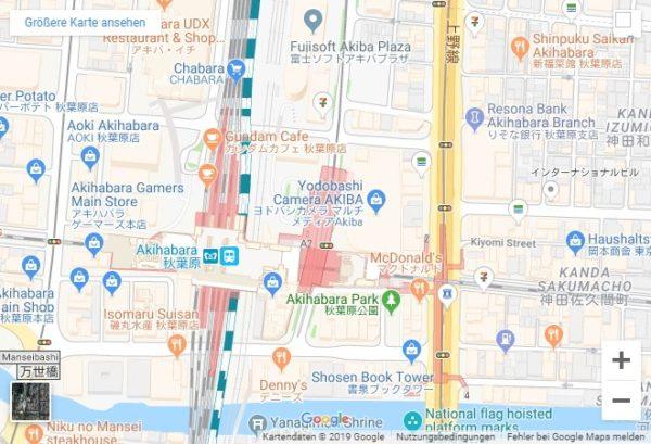 Google Maps Karte Lage Akihabara