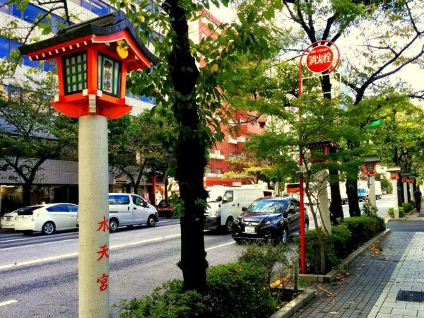 Alte Straßenbeleuchtung in Nihombashi in Tokio
