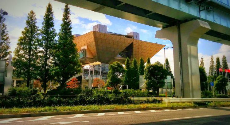 Gebäude Tokyo Big Sight in Odaiba in Tokio